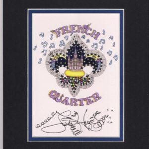 French Quarter Fleur de Lis 2015 8″ x 10″ Fine Art Giclee, signed