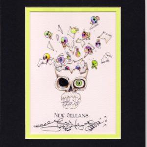 Exploding Skull 8″ x 10″ Fine Art Giclee, signed