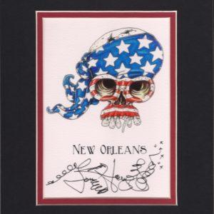 American Flag Skull 8″ x 10″ Fine Art Giclee, signed