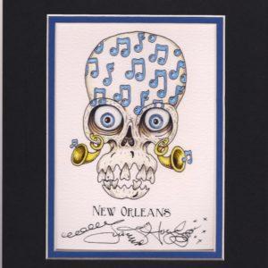 Music Note Skull 8″ x 10″ Fine Art Giclee, signed