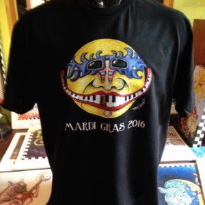 Mardi Gras 2016 Unisex Crew Neck 100% cotton T-shirt, Choose your color!