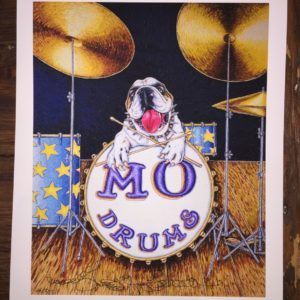 Mo Drums Limited Edition Fine Art Giclee, signed 12 X 16