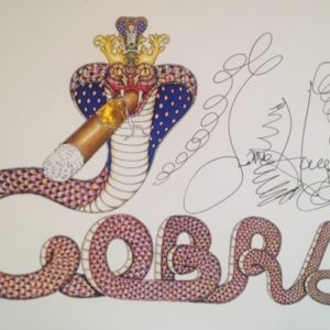 COBRA Limited Edition Fine Art Giclee, signed 12 X 16