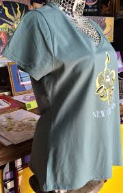 Birthplace of Jazz — Ladies 100% cotton deep V-Neck T-Shirt, Vintage Green