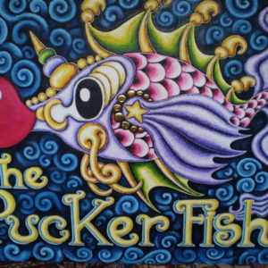 Pucker Fish, original oil painting, 48″ x 36″