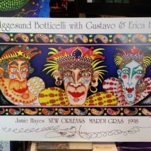 1998 Mardi Gras lithograph, SIGNED, 12″ x 19″