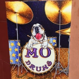 Mo Drums  Giclee on Canvas, signed, numbered and remarqued 11″ x 15.""