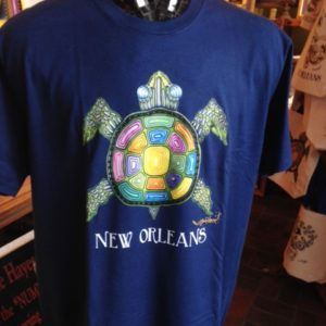 New Orleans Sea Turtle Unisex Crew Neck 100% cotton T-shirt, Choose your color!