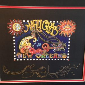 NEW ORLEANS MARDI GRAS limited edition giclee, Signed, matted