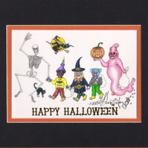 Happy Halloween Fine Art Giclee, matted to fit an 8″ x 10″ frame