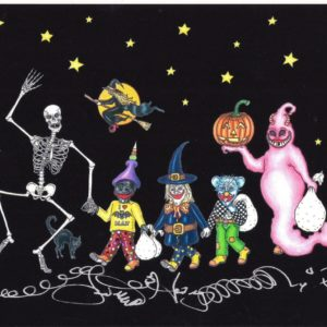 TRICK OR TREAT  Limited Edition Fine Art Giclee, signed 12 X 16 Black background version