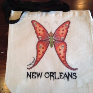 HALLOWEEN BUTTERFLY New Orleans 100% COTTON Canvas Tote