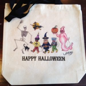 HAPPY HALLOWEEN New Orleans 100% COTTON Canvas Tote