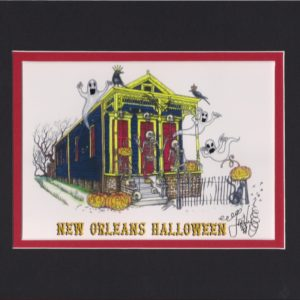 New Orleans Halloween Fine Art Giclee, matted to fit an 8″ x 10″ frame