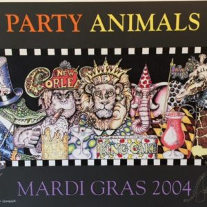 Mardi Gras 2004 Party Animals Serigraph , Signed, Numbered