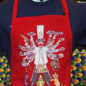 Where's My Boudin Adjustable Bib Apron with Center Divided Pocket
