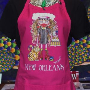 I Love to Bake Adjustable Bib Apron with Center Divided Pocket