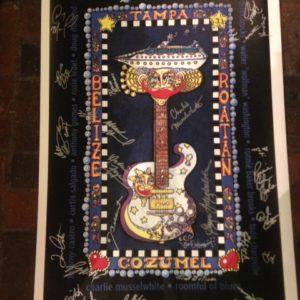 2004 Legendary Rhythm & Blues Cruise Hand-Pulled Serigraph, 26″ x 40″ Autographs by Blues Legends