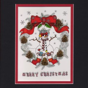 """Merry Christmas"" signed giclee, double matted to fit an 8×10 frame"