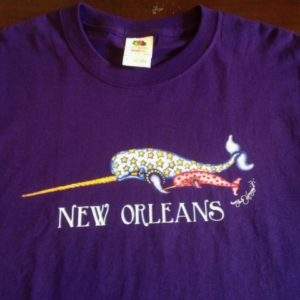Narwhal 100% cotton  T-Shirt, purple