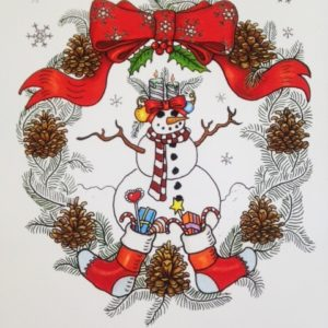 Merry Christmas Limited Edition Fine Art Giclee, signed and remarqued 12 X 16