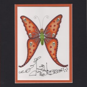 Halloween Butterfly, matted to fit an 8″ x 10″ frame